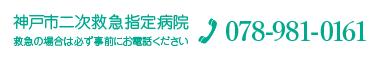 神戸市2次救急指定病院 078-981-0161